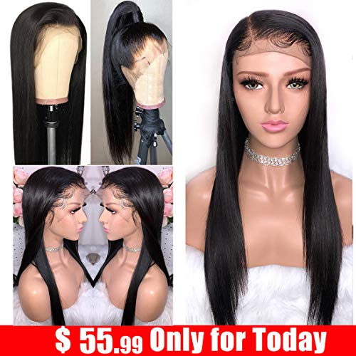Ayniss Straight Lace Front Wigs Brazilian Virgin Unprocessed Human Hair Wigs 13x4 Lace Frontal With Baby Hair For Black Woman 12 inch