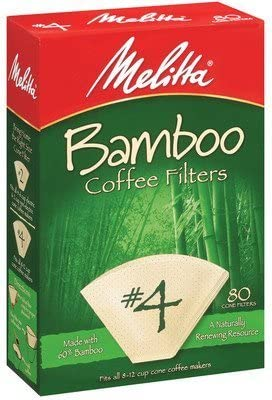 3 X Melitta 63118 #4 Bamboo Filters 80 Count