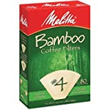 Melitta 63118 #4 Bamboo Filters 80 Count (Pack of 2)