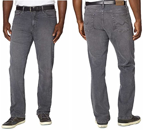 Urban Star Men's Relaxed Fit Straight Leg Stretch Blue Denim Jeans (36X34, Grey) ()