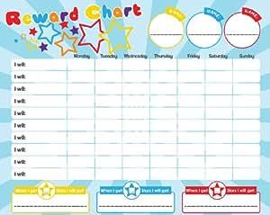 magnetic rewardstar chart for motivating children
