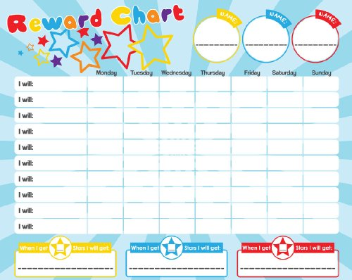 Magnetic Reward Star Chart For Motivating Children Durable Board 40