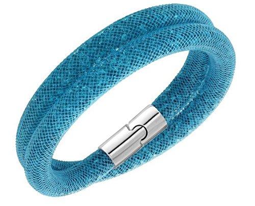 Swarovski 5120022 Stardust Blue Double Bracelet Medium