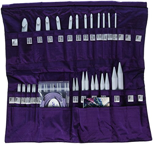 Denise Needles Knit and Crochet Needle in a Della Q-Case, Purple by Denise Needles