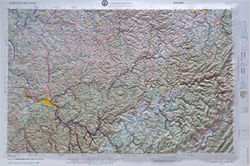 Relief Map Of Virginia.Charleston West Virginia Raised Relief Map Nj 17 05 Hubbard