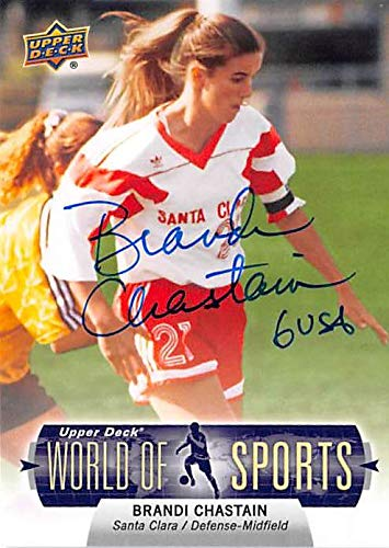 (Brandi Chastain autographed trading card (Soccer USA Womens) 2011 Upper Deck World Sports #254)