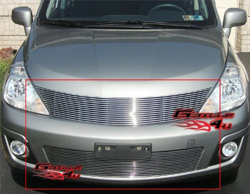 APS Compatible with 2007-2011 Nissan Versa Billet Grille Combo S18-A36878N