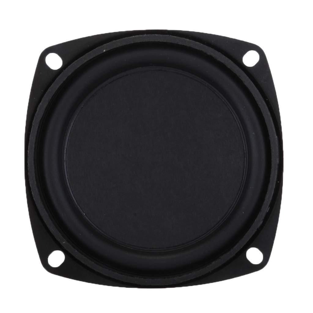 D DOLITY Altavoz de Graves Rango Completo Altavoz Impermeable Compatible con Reproductores de Medios 25W, 78x78x40mm