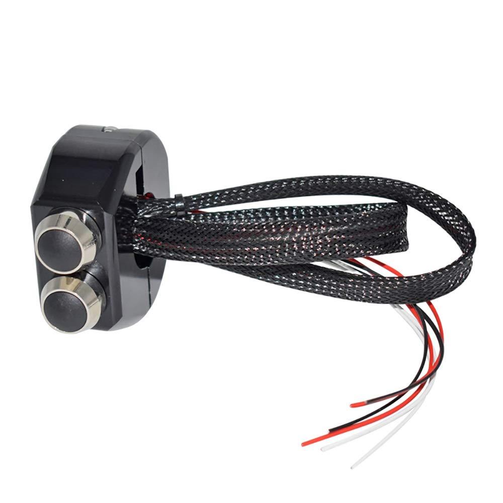 Color : Plata XFGBTJKYUT 25 mm CNC Nuevo aluminio Off-Road ATV interruptores ON OFF para faro antiniebla Luz interruptor de bot/ón para comenzar