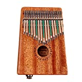 Kalimba Thumb Piano, niceEshop 17keys Portable thumb finger piano music instrument with instruction and tune hammer, Acacia mangium Style2