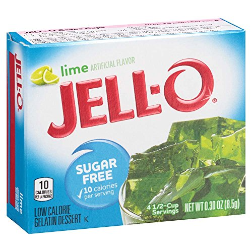 Jell-O Sugar-Free Lime Gelatin Mix 0.3 Ounce Box (Pack of 6)