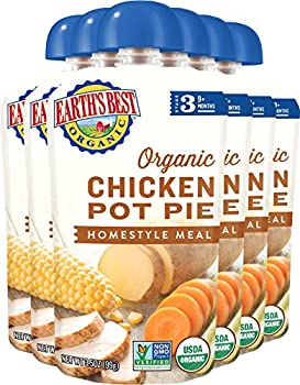 Earth's Best Organic Stage 3 Baby Food, Chicken Pot Pie Dinner, Non Gmo Ingredients, 4 Grams Of Protein, 3.5 Oz Resealable Pouch (Pack Of 6) 7