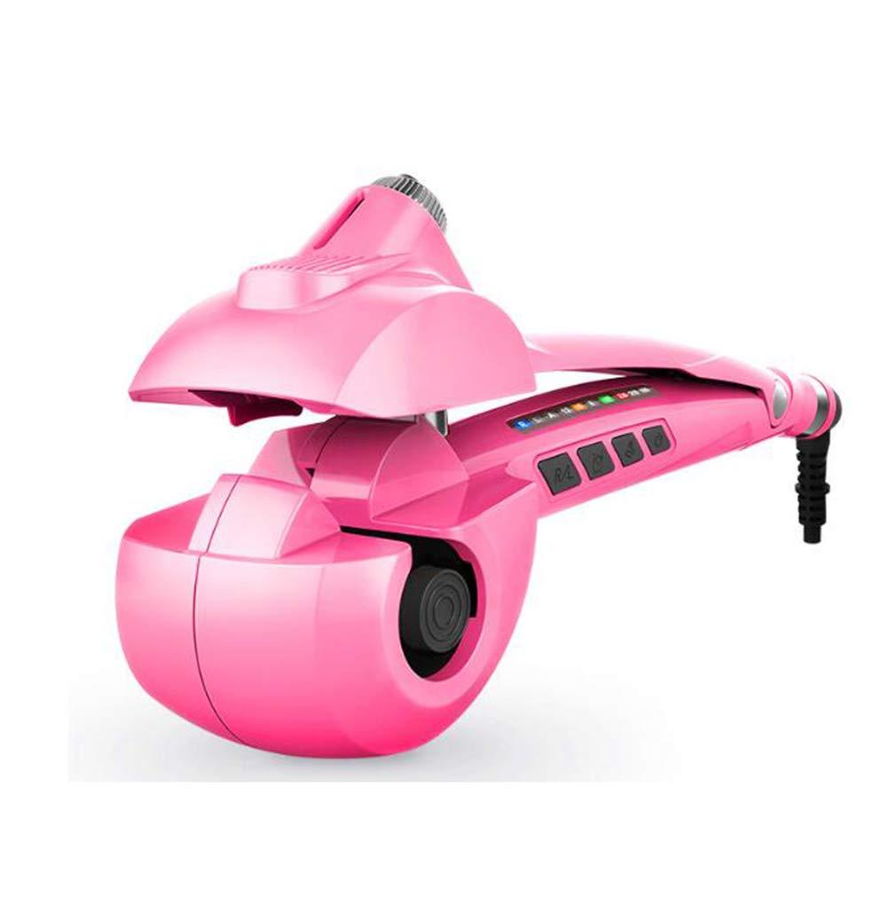 自動ヘアカーラー、プロフェッショナル自動スチームセラミック暖房システム、ヘアカーラー、自動スチームカーリング、デジタルLED表示機ワンド短いロングヘアアイロン,Pink  Pink B07QD5NBQL