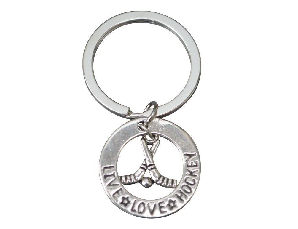 Hockey Gift, Hockey Keychain, Hockey Jewelry, Hockey Charm Keychain Perfect Gift for Hockey Players, Hockey Moms & Coaches Infinity Collection