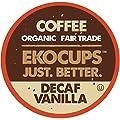 EKOCUPS Artisan Organic Decaf Vanilla,medium Roast Coffee In Recyclable Single Serve Cups for Keurig K-Cup Brewers, 20 Count