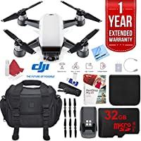 DJI Spark Alpine White Quadcopter Drone 32GB Photo Expedition Bundle