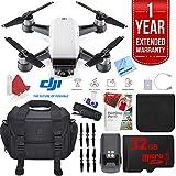 DJI Spark Alpine White Quadcopter Drone 32GB Photo Expedition Bundle