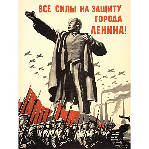 Bumblebeaver Propaganda Political Military Lenin Victory RED Army WAR WWII USSR New FINE Art Print Poster Picture 30×40 CMS CC4012