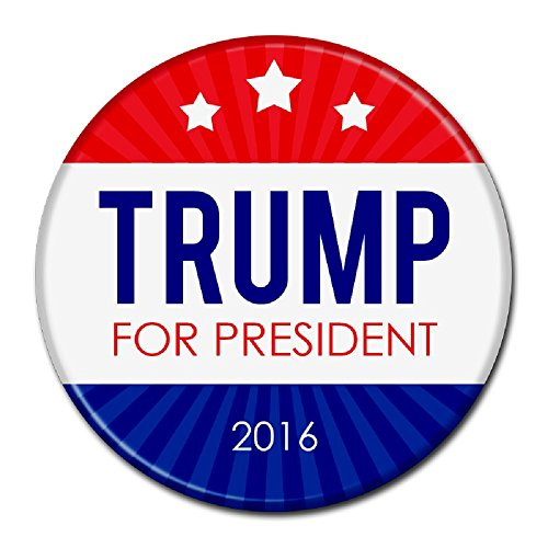 Oliasports Donald  for President Campaign Buttons, Multi (Trump 3star)