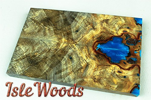 Stabilized Wood Knife Scales Buckeye Burl Hybrid Blank SCL5728 - Burl Scales