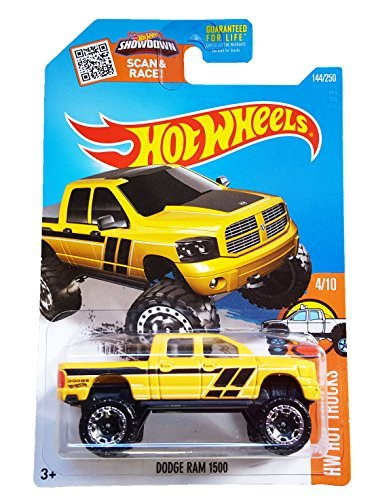 Hot Wheels, 2016 HW Hot Trucks, Dodge Ram 1500 [Yellow] - Dodge Wheels Hot Ram