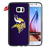 "Samsung Galaxy S7 Soft Cover Case,NFL Minnesota Vikings Sports Logo & Team Helmet Image Desing Rubber Bumper Case Lifeproof (5.1"")"