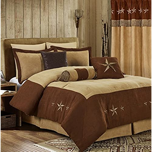 blue theme comforter sets craze bedding decor curtains bedroom matching queen setting brown with luxury