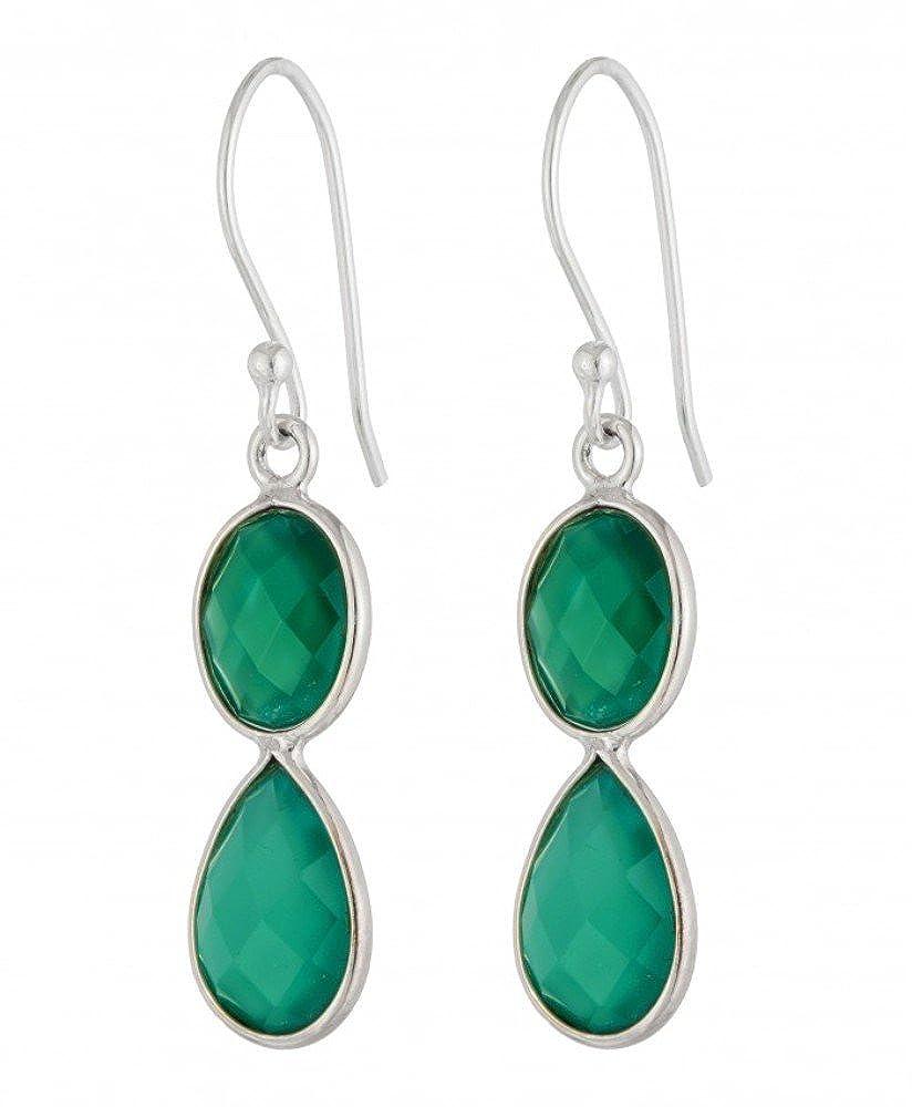 DV Jewels Green Onyx Earrings