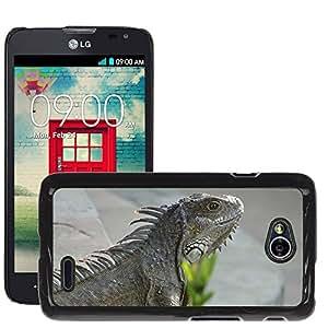 Hot Style Cell Phone PC Hard Case Cover // M00115006 Iguana Iguanas Galapagos Lizard // LG Optimus L70 MS323