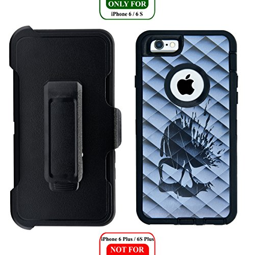 AlphaCell Cover Compatible with iPhone 6 / 6S (NOT Plus) | 2-in-1 Screen Protector & Holster Case | Full Body Military Grade Protection with Carrying Belt Clip | Protective Drop-Proof - Otterbox Case Sports Iphone 6