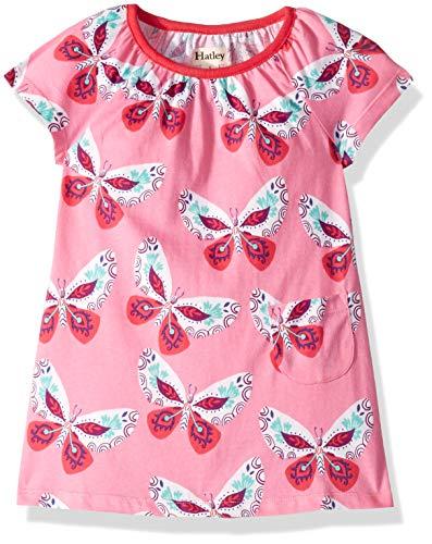 Hatley Girls' Little Tee Dress, Decorative Butterflies, 3 Years