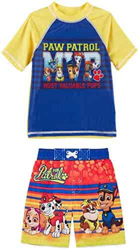 6ded373f77 Nickelodeon Paw Patrol Rash Guard and Swim Trunks Shorts Set Boy Size 5T