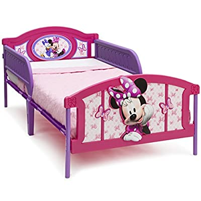 Delta Children Plastic 3D-Footboard Twin Bed & 6-Inch Memory Foam Twin Mattress, Disney Minnie Mouse: Baby