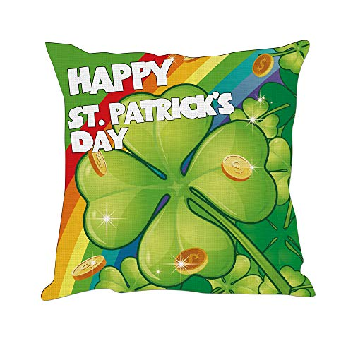 Tom Boy St Patrick's Day Pillow Covers Decorations Throw Saint Shamrocks Pillow Covers Cushion Cases National Festival Holiday Decor Pillowcases for Home Couch,20