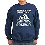 CafePress - Camping With A Chance Of Drinking Jumper Sweater - Sweatshirt (dark)