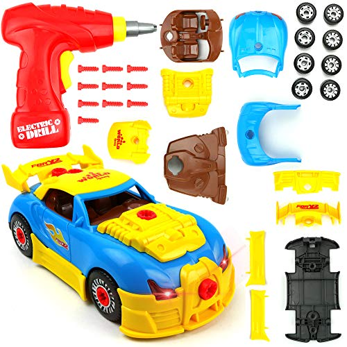 (Big Mo's Toys Build Your Own Race Car - STEM Toy Racing Car for Kids)
