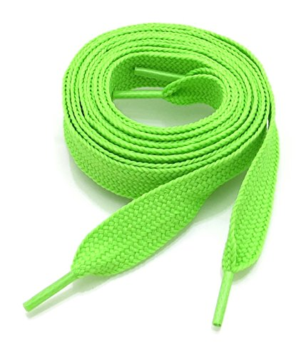 Thick Fat Shoelaces for Sneakers, Boots and Shoes by Ti Shoe Laces - Chose your colors (Lime) -