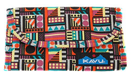 KAVU Zippy Wallet Bi Fold Zip Clutch With Removable Coin Pouch - Geometry