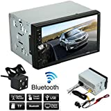 Hatop Double 2 Din Car Stereo MP5 MP3 Player Radio Bluetooth USB AUX + Parking Camera
