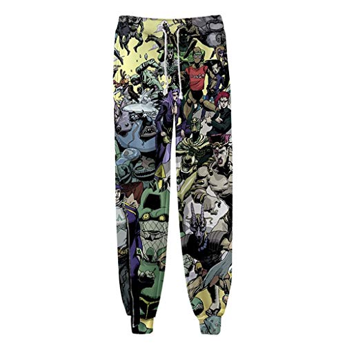 FunStation 3D Printed JoJo's Bizarre Adventure Cosplay Gym Joggers Casual Pants Sports Sweatpants 01 L -