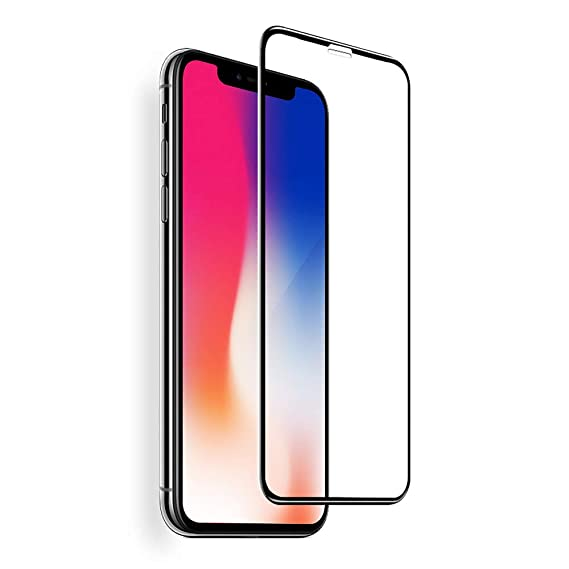 online store db511 52a97 VitaVela iPhone X Screen Protector, HD Full Screen Tempered Glass Screen  Protector Film, [Case Friendly] [3D Touch] Protection Screen Cover Saver ...