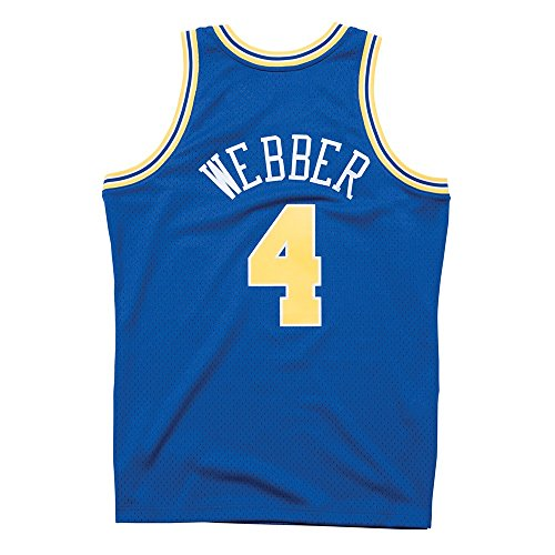 (Mitchell & Ness Chris Webber Golden State Warriors NBA Throwback Jersey (Medium))