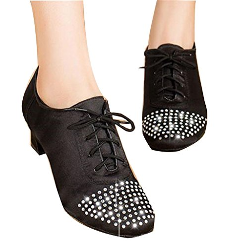 Dance Fashionable Crystal Latin Monie Salsa Women's Tango Ballroom Lace Shoes up 5anxRzwIq