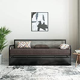 Solimo Darius Metal Sofa Cum Bed