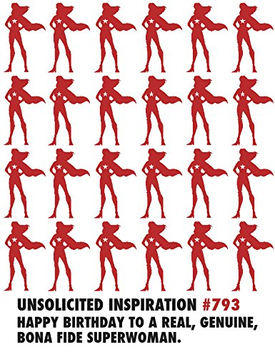 Quiplip UI246PCK Unsolicited Inspiration Birthday Cards Superwoman, -