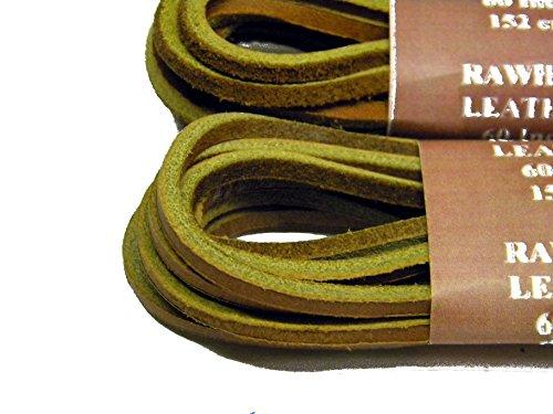 Sport28 Fresh Tan Ongelooide Lederen Veters Voor Hi-top Laarzen En Alle Kwaliteit Schoeisel 1/8 Inch Vierkant Gesneden Ongelooide Huid