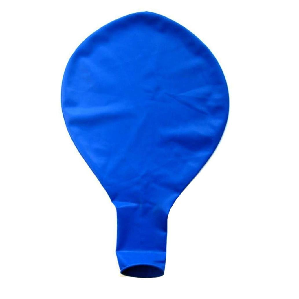 Liping 36'' 90cm Large Giant Oval Latex Birthday Wedding Party Love Decor Party Balloons Easy to Inflate Ball Balloons (Blue)