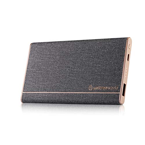 Unitron World Ultra Slim Power Bank External Battery Pack Elegant Thin Portable Phone Charger | High Speed Battery Compatible with iPhone Android Samsung Camera | 5000mAh Travelcard Powerbank | UN-LT2 (Best External Power For Iphone)