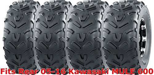 Set 4 WANDA ATV tires 22x9-10 Front & 22x11-10 Rear 05-16 Kawasaki MULE 600 - 10x5 Front