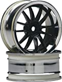 HPI Racing 3286 Work XSA 02C Wheel, 3mm Offset, Chrome and Black